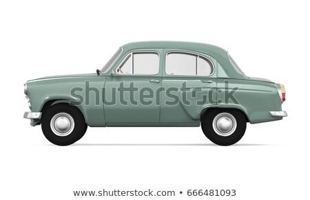old vintage car isolated on white background Stock photo © Ava