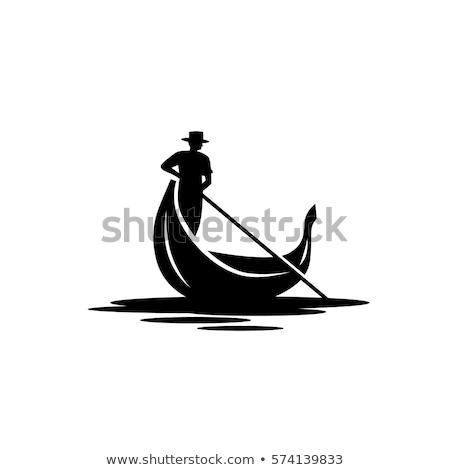 ボート ベニスの 狭い 水 運河 イタリア ストックフォト © Givaga