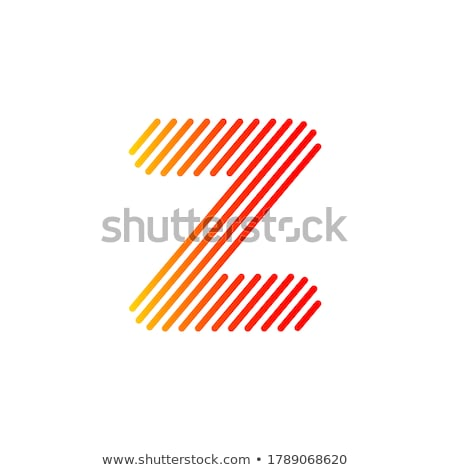 Narancs i betű négyszögletes formák vektor illusztráció Stock fotó © cidepix