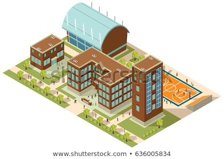 Vector Isometric University Building Stockfoto © Artisticco