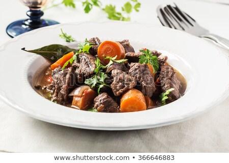 Kawałek mięsa serwetka powyżej widoku Zdjęcia stock © dash