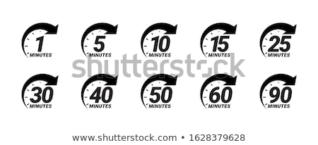 Isolated stopwatch icon five to on a white background Stock photo © Imaagio