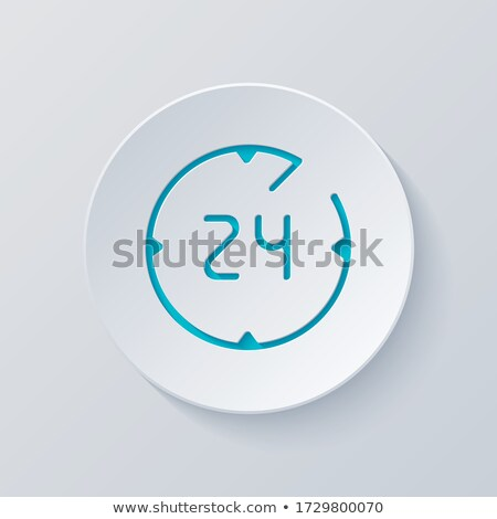 Online all day in linear outline style vector Stock photo © robuart
