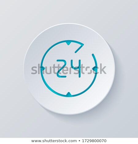 online · Unterstützung · linear · Gliederung · Stil · Vektor - stock foto © robuart
