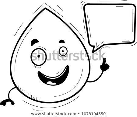 Karikatur Wassertropfen sprechen Illustration lächelnd Grafik Stock foto © cthoman