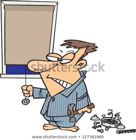 Cartoon Angry Man In Pajamas Stock photo © cthoman