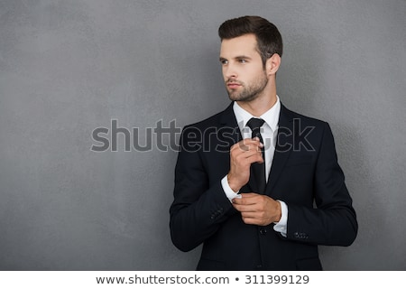 affaires · blanche · costume · isolé · homme - photo stock © artfotodima