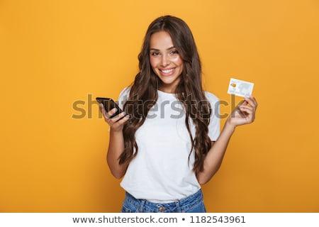 brunette · vrouw · lang · haar · droom · vrouwen - stockfoto © deandrobot