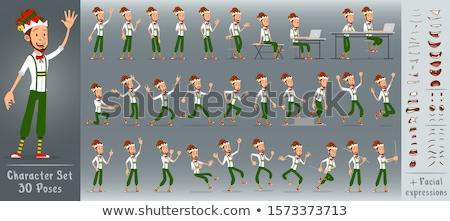 Colère cartoon garçon elf illustration enfants Photo stock © cthoman