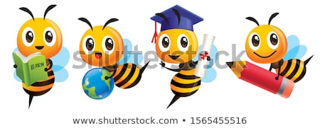 Cartoon api tre cute ape sorridere Foto d'archivio © mumut