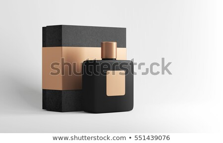 elegant perfume bottle with golden perfume box stock photo © gsermek