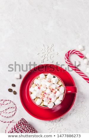 Noël · chocolat · chaud · guimauve · haut · vue - photo stock © dash