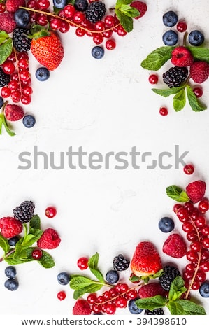 Different fresh berries, top view Stock photo © maxsol7
