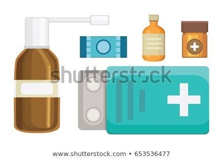 Disease, Medication Vector. Hospital Pharmacy Set. Drug Store. Isolated Flat Cartoon Illustration Stock photo © pikepicture
