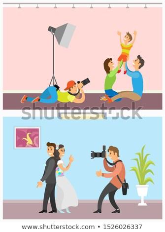ślub · oblubienicy · pan · młody · plakat · stałego · wraz - zdjęcia stock © robuart