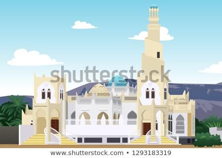 Mesquita Iémen ilustração oração religião moderno Foto stock © artisticco