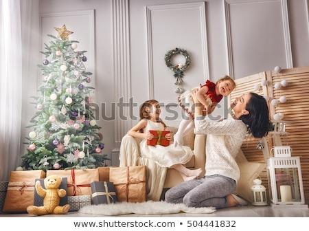 Merry Christmas Holidays Children Having Fun Cards Stock photo © robuart