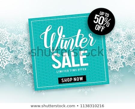 Invierno vacaciones venta tarjeta rojo tarjetas Foto stock © alexaldo