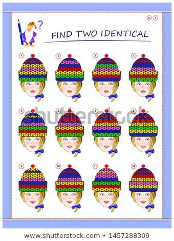 talál · kettő · azonos · képek · gyerekek · szín - stock fotó © izakowski