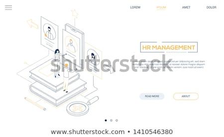 HR management - flat design style colorful illustration Stock photo © Decorwithme