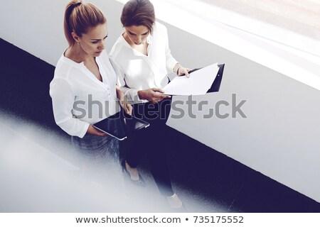entretien · d'embauche · téléphone · négociations · vecteur · affiche · patron - photo stock © robuart
