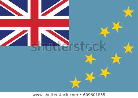 Тувалу флаг белый большой набор текстуры Сток-фото © butenkow
