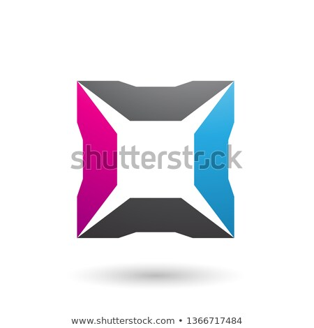 Bleu magenta noir carré vecteur illustration Photo stock © cidepix