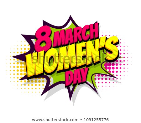International Womens Day pop art woman poster Stock photo © cienpies