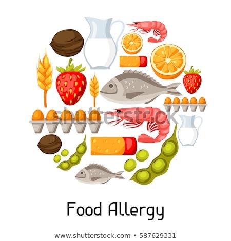 Alimentos vector anunciante alérgico productos iconos Foto stock © robuart