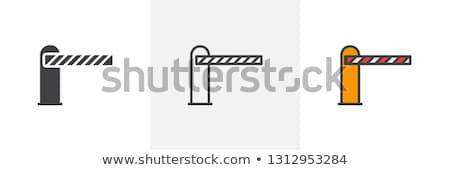 стоянки икона стиль остановки металл безопасности Сток-фото © biv