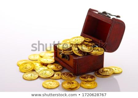 Vak gouden munt illustratie hout ontwerp kunst Stockfoto © bluering