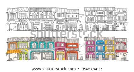 Old houses in the Old Town of Georgetown, Penang, Malaysia Stock photo © galitskaya
