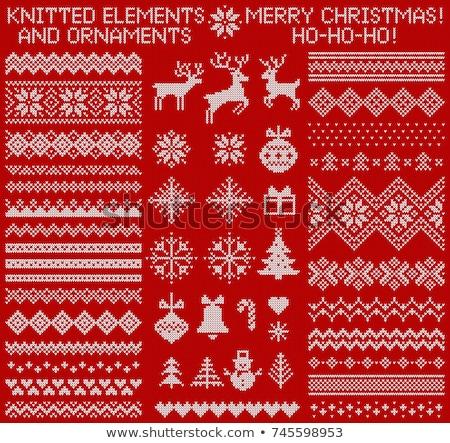 Crochê conjunto padrão eps 10 Foto stock © netkov1