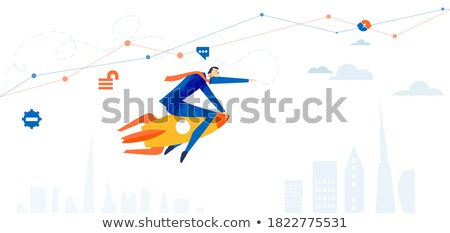 People with Rocket, Business Startup Working Team Stock photo © robuart
