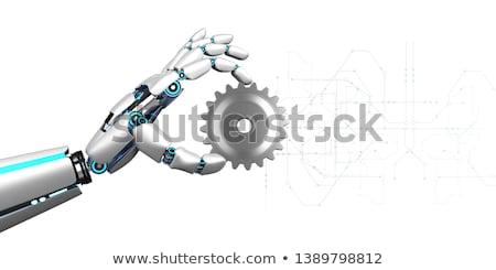 Humanoide robot mano artes circuito diagrama Foto stock © limbi007