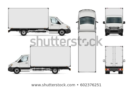 White truck vector mockup on white Stock photo © YuriSchmidt