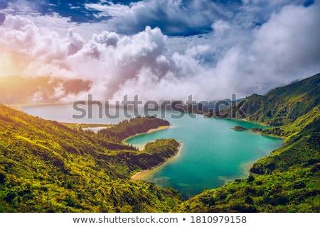 Wulkan El Salvador niebo charakter panorama miasta Zdjęcia stock © benkrut