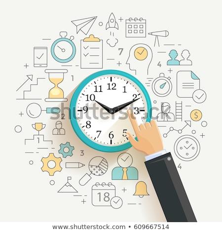 Organisator klok business tijd vector Stockfoto © robuart