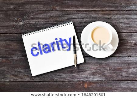 Notepad woord idee geschreven fiche pen Stockfoto © nito