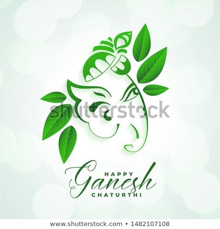 hindu festival of ganesh chaturthi mahotsav background Stock photo © SArts