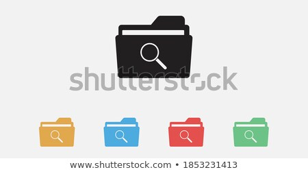 office folders related vector glyph icon stock photo © smoki