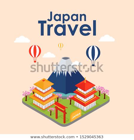 Geisha Japon carte repère nation vecteur Photo stock © robuart