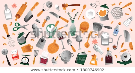 Grater Metallic Kitchenware Color Vector Stock photo © pikepicture