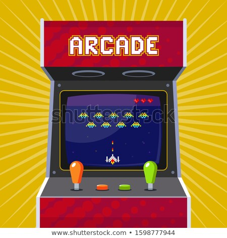 Classic Arcade Game Machine with Rocket Vector Stock photo © robuart
