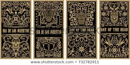 день мертвых красочный мексиканских череп форма Сток-фото © cienpies