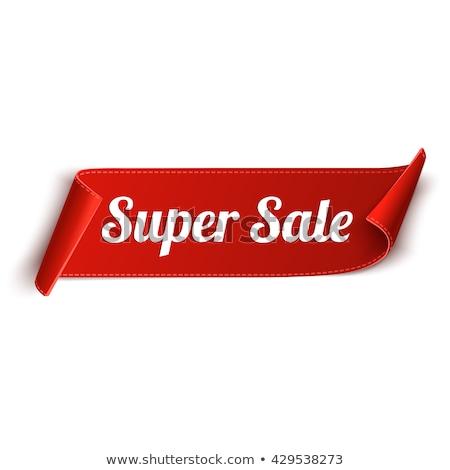 реклама Label супер цен поощрения вектора Сток-фото © robuart