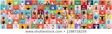 Verschillend mensen verscheidene houden wereldbol handen Stockfoto © mozgova
