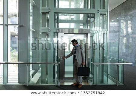 Elöl kilátás okos kaukázusi üzletember modern Stock fotó © wavebreak_media