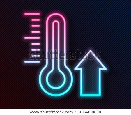 Koud thermometer neonreclame weer promotie natuur Stockfoto © Anna_leni