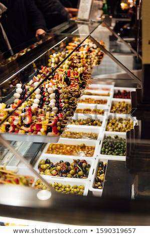 Lujoso tapas tradicional pequeño porción aperitivos Foto stock © ruslanshramko
